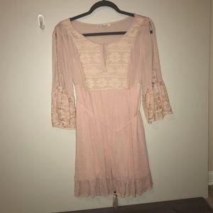 Peach Boho Lace Dress
